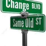 20896874-Street-signs-decide-on-same-old-way-or-change-choose-new-path-and-direction-Stock-Photo