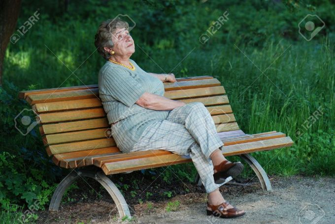 8047384-Old-lady-on-park-bench-Stock-Photo-bench-sitting-woman