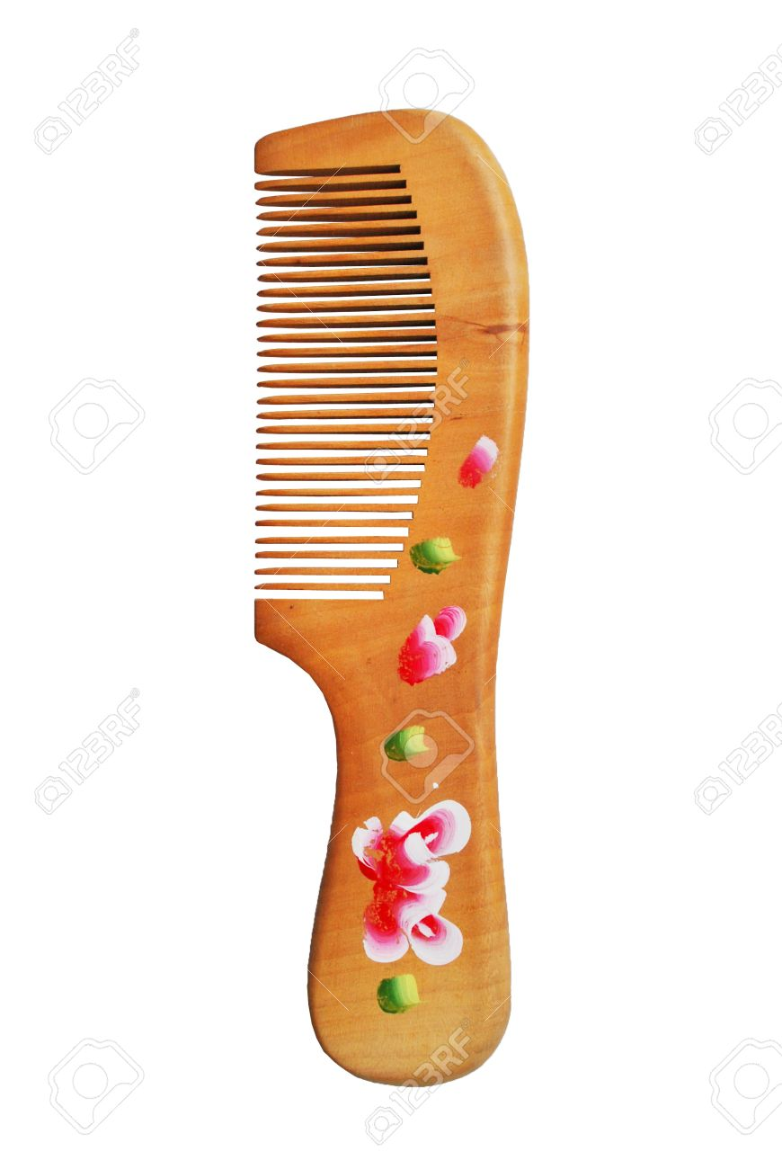 9330786-the-wooden-comb-is-on-the-white-background-stock-photo