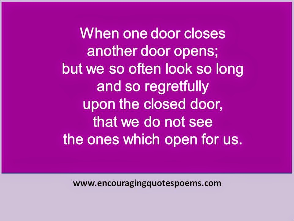 B1 When one door closes quote card