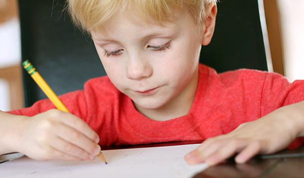 child-writing-letter