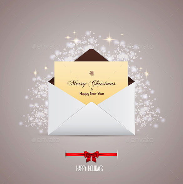 envelope-and-greeting-card-merry-christmas-eps-format