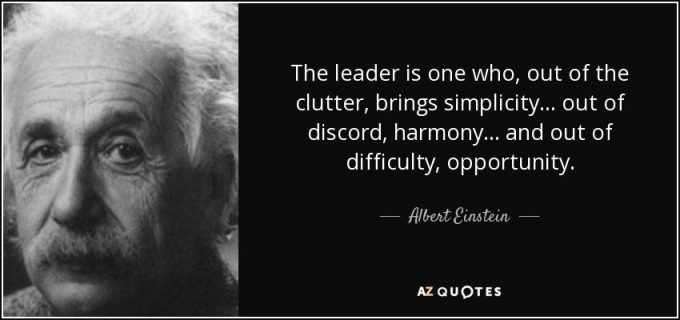 quote-the-leader-is-one-who-out-of-the-clutter-brings-simplicity-out-of-discord-harmony-and-albert-einstein-88-8-0873