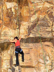 cliff climbing