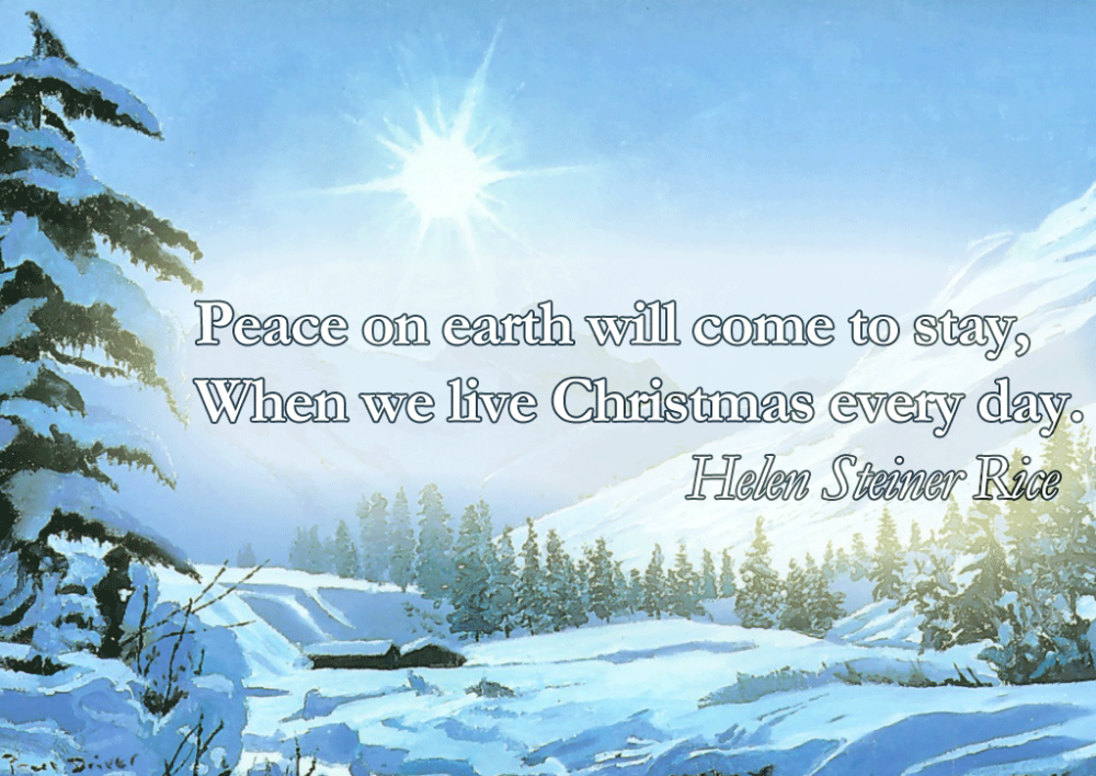 Peace-On-Earth-Will-Come-To-Stay