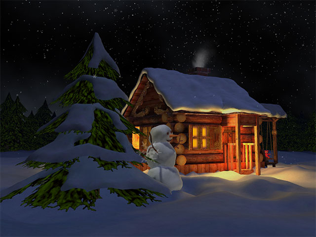 Winter Night Pic_Cabin