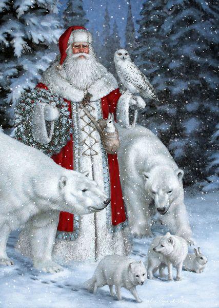 3df3e88e98f57d7db6326b27efb8238b--father-christmas-christmas-art