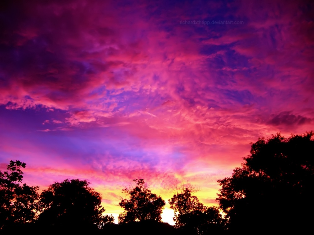 Fiery_Pink_Sunset_2_Wallpaper_by_richardxthripp